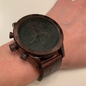 Nixon 51-30 chrono simplify black leather watch